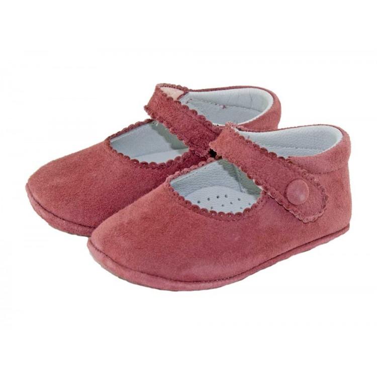Babies Bébé Daim Bouton Velcro