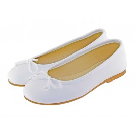 Ballerines fille cuir Communion
