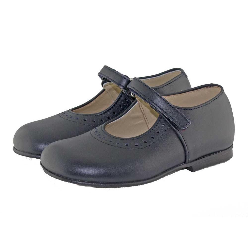 7445ed4e63ad0 Chaussures d école Babies Fille bleu marine