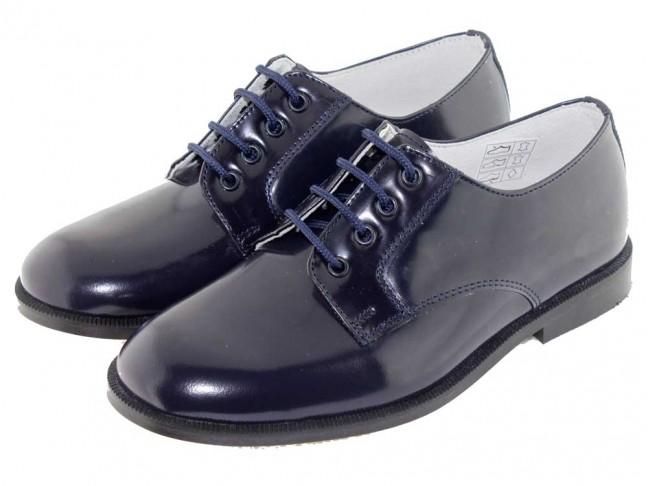2b49d5409c6fc Chaussures Blucher Garçon Fille Cuir Vernis