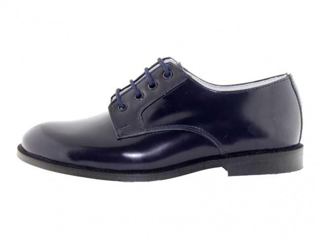Chaussures Blucher Garçon Fille Cuir Vernis