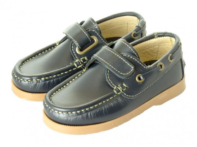 Chaussures Bateau Garçons cuir velcro 1cbfc03800a9