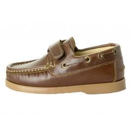 Chaussures bateau Garçons cuir velcro