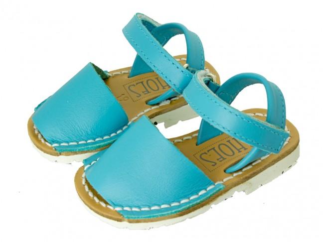 Sandales garçon fille semelle blanche Velcro