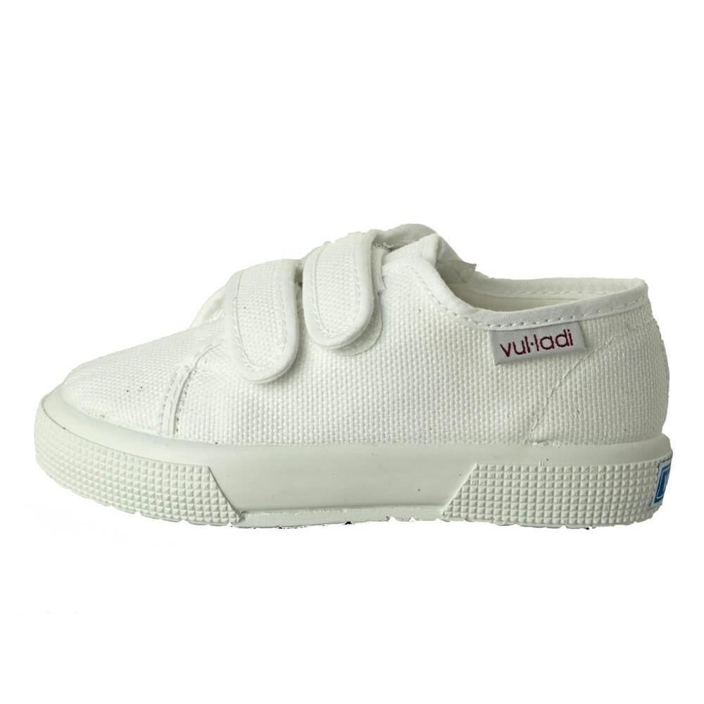 Baskets toile fille garçon semelle épaisse, velcro | Minishoes