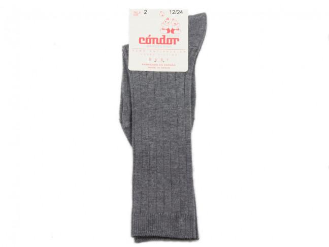 Chaussettes enfants Condor côtelées Hautes