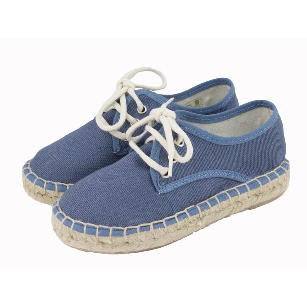 Espadrilles en toile type Blucher pour filles et garçons   Minishoes 4d42cec8ab23