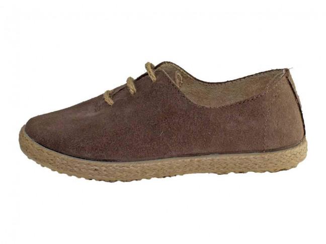 Chaussures Blucher Fille Garçon Daim corde