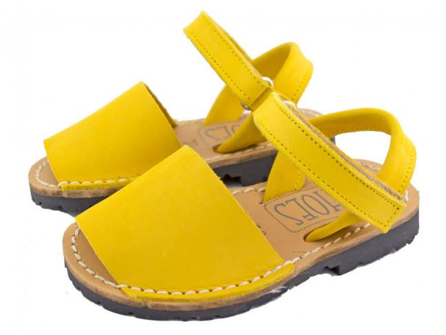Sandales garçon fille velcro Nubuck