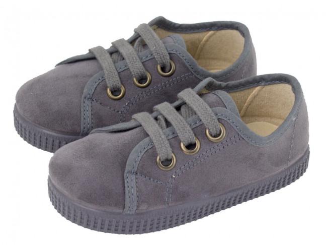 Zapatillas niño niña cordones serratex