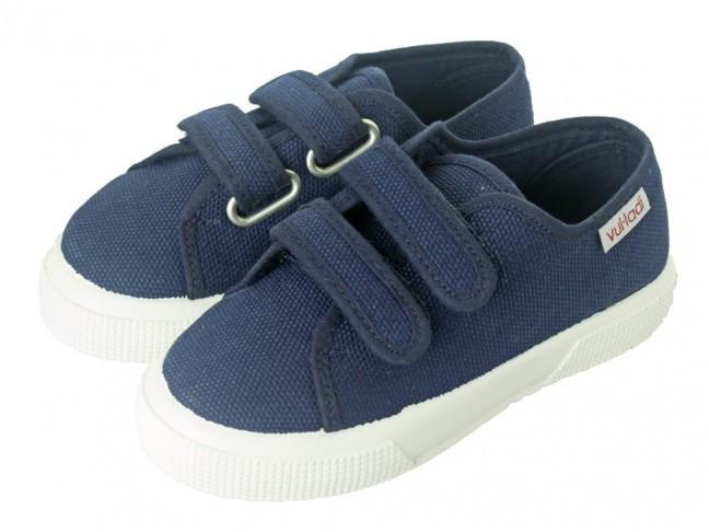 Zapatillas lona niño suela ancha