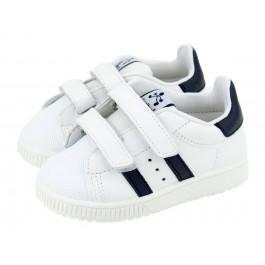 Zapatillas deporte niño niña Rayas piel lavable