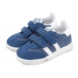 Zapatillas niños piel velcro